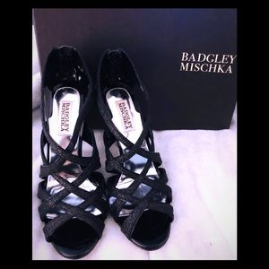 Badgley Mischka Junebug sparkle/glitter heels